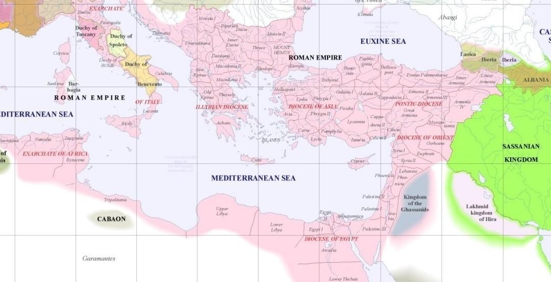какую территорию занимала византийская